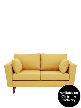 ideal-home-porter-fabric-2-seater-sofa-mustard