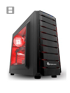 PC Specialist Fusion Gamer AMD Ryzen 3 Processor, GeForce GTX 1060 Graphics, 8Gb RAM, 1Tb HDD Gaming PC