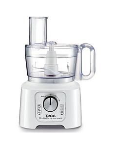Tefal DO544140 DoubleForce 800W Compact Plus Multifunction Food Processor - White