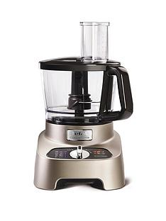 Tefal DO824H40 DoubleForce Pro 1000W Multifunction Food Processor - Premium Silver & Chrome