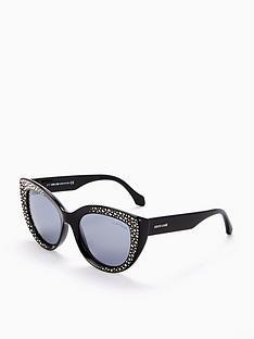 roberto-cavalli-shiny-embellished-sunglasses-black