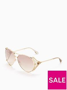 roberto-cavalli-arm-detail-aviator-sunglasses-gold