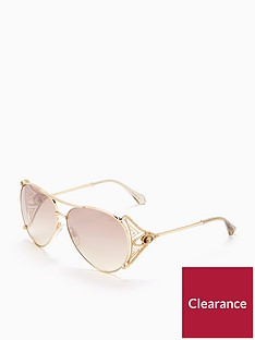 roberto-cavalli-arm-detail-aviator-sunglasses-gold