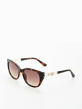 Guess Chain Detail Sunglasses - Havana