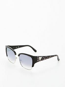 Guess Logo Arm Sunglasses - Black