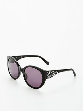 Swarovski Gem Arm Sunglasses - Black