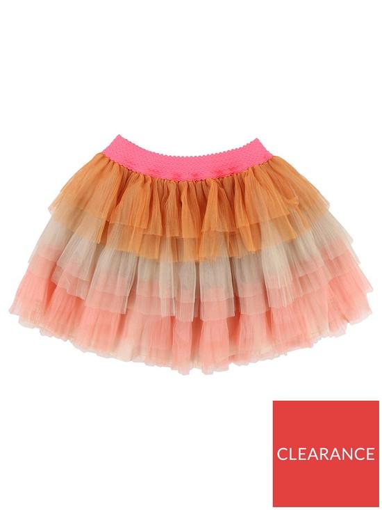 d98e1045b Girls Tulle Mesh Tutu Skirt - Pink/Orange
