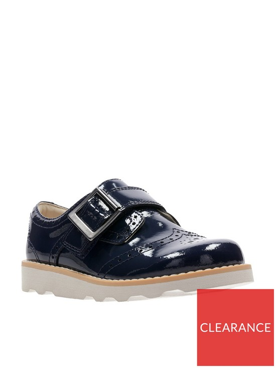 7b339b4e659 Clarks Crown Pride Infant Shoe - Navy Patent