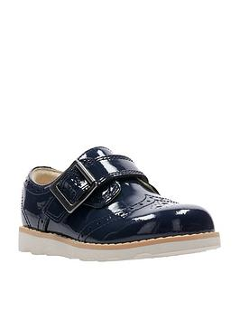 clarks-crown-pride-girls-first-shoes-navy-patent