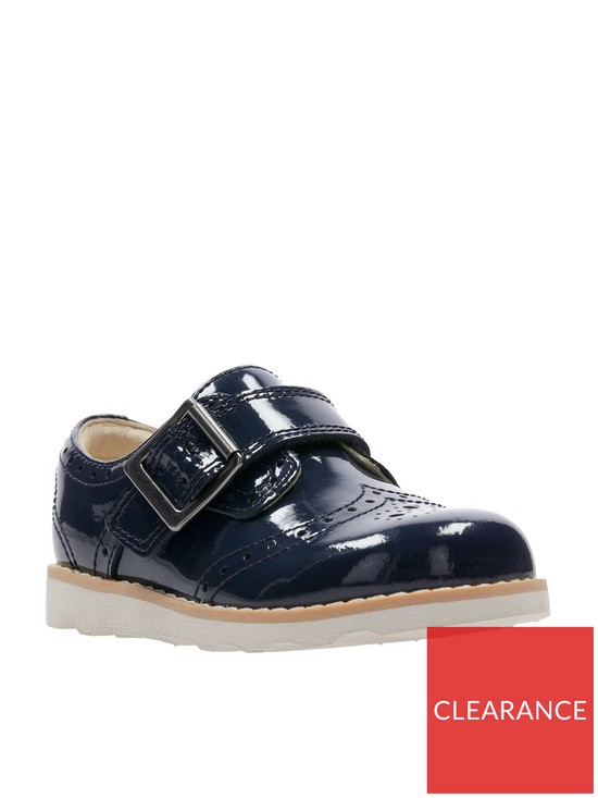 06547f5617f Clarks Crown Pride Girls First Shoes - Navy Patent