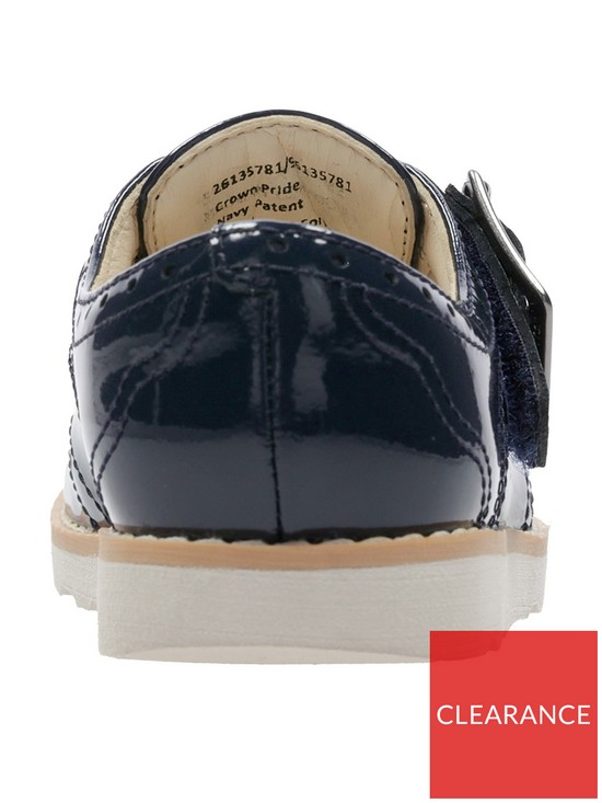 94a060364a4 ... Clarks Crown Pride Girls First Shoes - Navy Patent. View larger