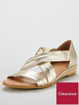 office-hallie-low-wedge-sandals-gold