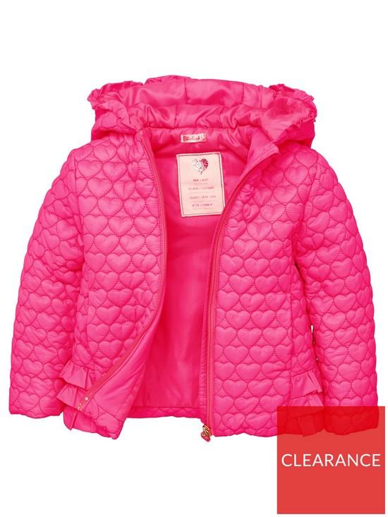 555bbcff9 Billieblush Girls Hooded Heart Padded Jacket