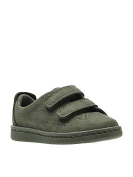 clarks-nate-maze-girls-baby-first-shoes-olive