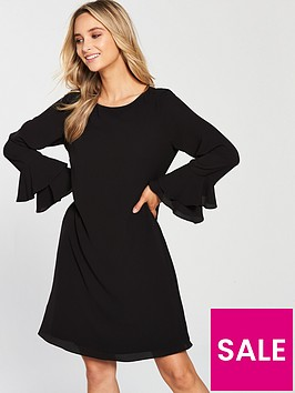 wallis-double-flute-sleeve-dress