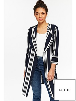 wallis-stripe-waterfall-jacket-blackwhite