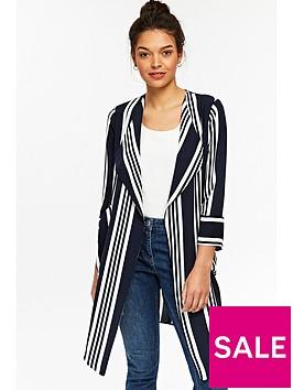 wallis-stripe-waterfall-jacket-blackwhite