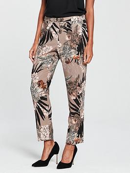 wallis-pull-on-trouser-palm-print