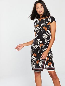 wallis-tapestry-stripe-wrap-dress