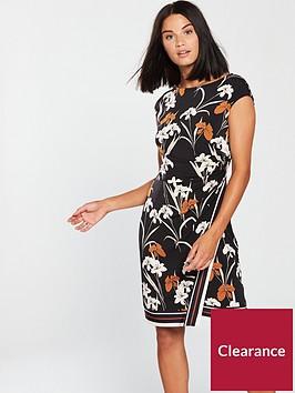 wallis-tapestry-stripe-wrap-dress