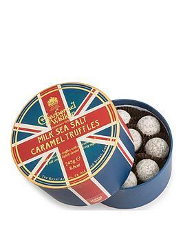 charbonnel-et-walker-charbonnel-et-walker-union-jack-round-double-layer-box-with-sea-salt-milk-caramel-truffles