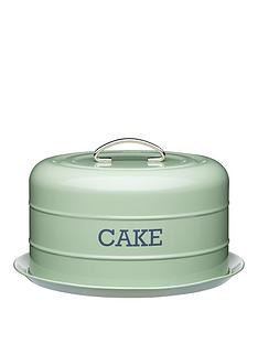 living-nostalgia-airtight-domed-cake-tin-english-sage-green