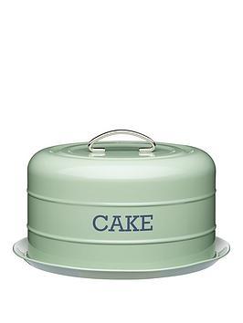 living-nostalgia-airtight-domed-cake-tin-english-sage-green