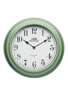 living-nostalgia-255cm-wall-clock-ndash-english-sage-green