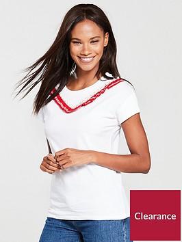 river-island-ruffle-embellished-t-shirt