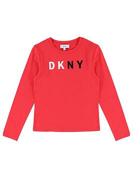 dkny-girls-long-sleeve-logo-t-shirt