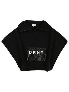 dkny-girls-logo-pocket-knitted-poncho