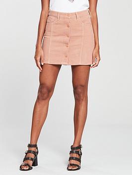 river-island-cord-button-skirt-pink