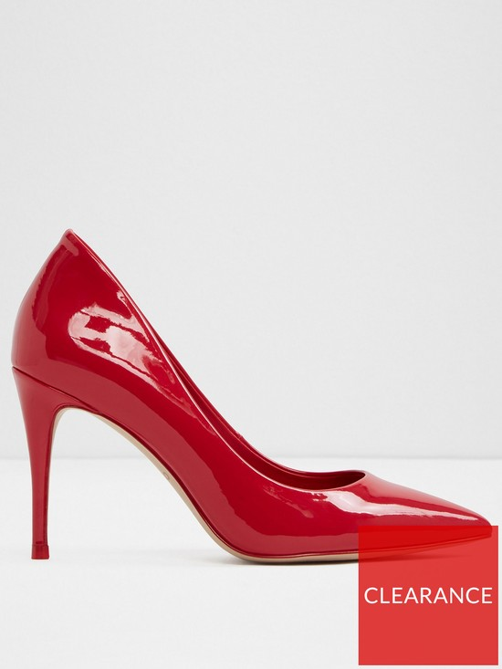 672a9a398e22 Aldo Traycey Mid Heel Pointy Toe Court Shoe - Red