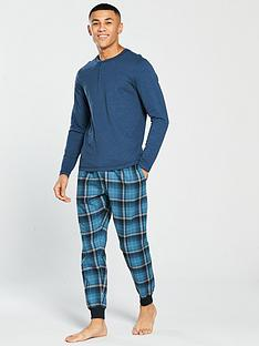 v-by-very-ls-fine-stripe-loungewear-grandad-check-bottoms