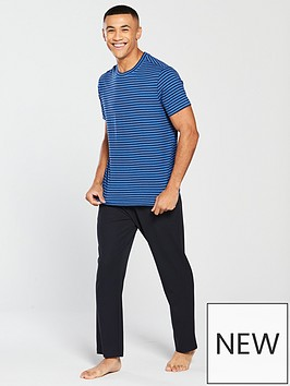 v-by-very-blue-striped-loungewear-tee-amp-pique-joggers