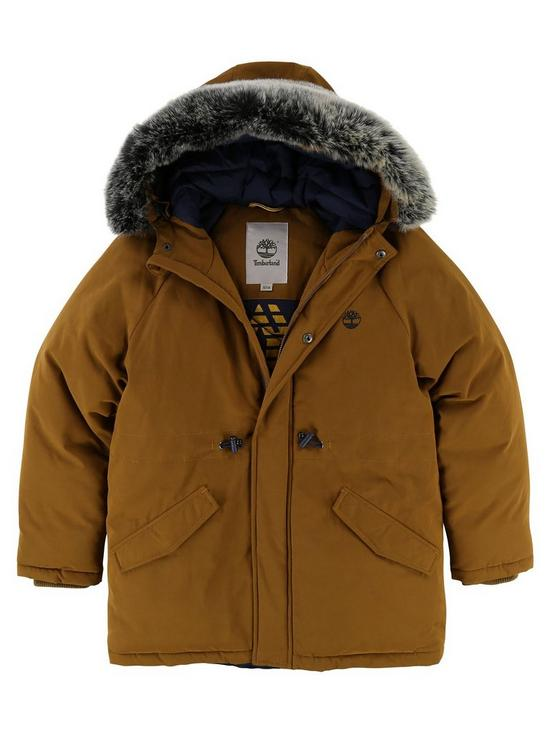 Fur Very co Faux Boys Hooded Parka Timberland uk TnqRFaWxw