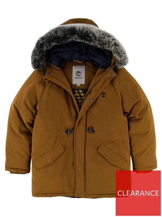 3a4b5c5a4b62 Timberland Boys Faux Fur Hooded Parka