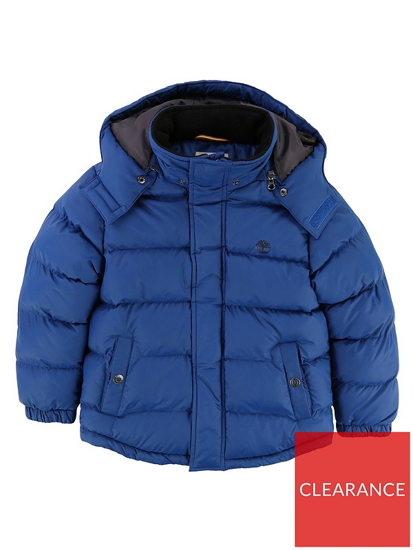 b49350c1c16d Timberland Boys Removable Hood Padded Jacket