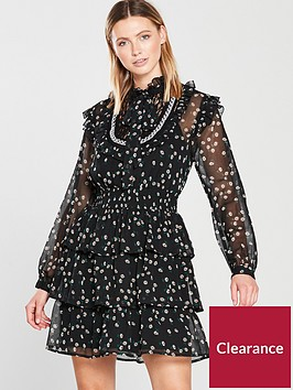 v-by-very-shirred-waist-tiered-dress