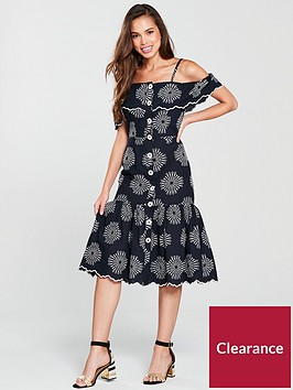 river-island-river-island-embroidered-midi-dress-navy-print