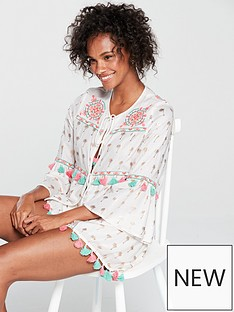 river-island-river-island-embroidered-tunic-co-ord-top