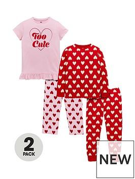 v-by-very-girls-too-cute-pyjama-set-2-pack