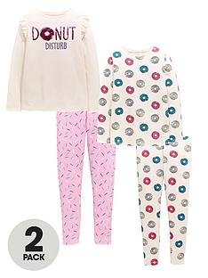 v-by-very-girls-sequin-donut-disturb-2-pack-pyjama-set