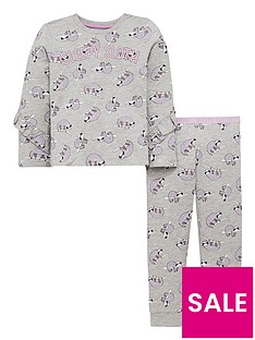 mini-v-by-very-girls-sleepy-sloth-ruffle-pyjamas-grey