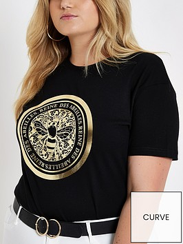 river-island-branded-bee-t-shirt-black