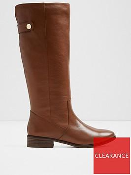 aldo-ginnis-knee-high-flat-boot-cognac