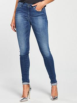 Replay Replay Joi Jeggin High Rise Jean Mid Wash