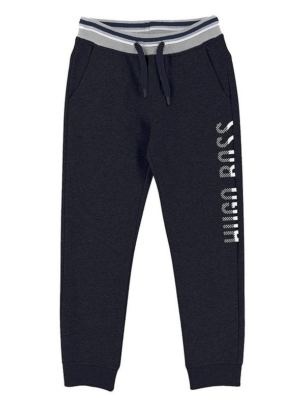 2019 best sell promotion most reliable Boys Side Logo Tracksuit Jogging Bottoms - Navy