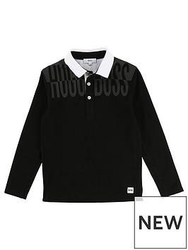 boss-boys-long-sleeve-mesh-side-print-polo-shirt