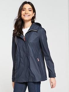3e284e680 Hunter Original Lightweight Rubberised Festival Jacket - Navy